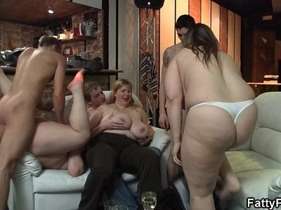 ass fucking   chubby   girl   grandma   party
