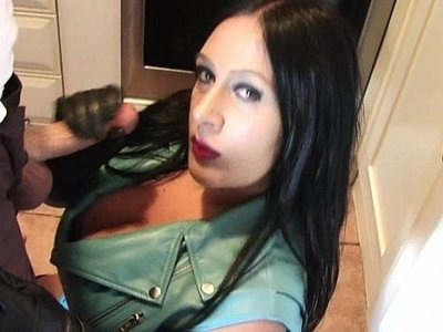 dick  girl  huge tits  lady  leather