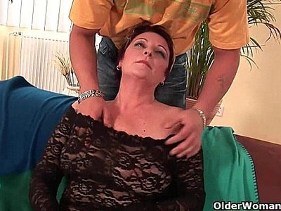 cock   enjoying   grandma   hairy   mouth   sexy